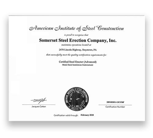 AISC Certified Steel Erector (Advanced)