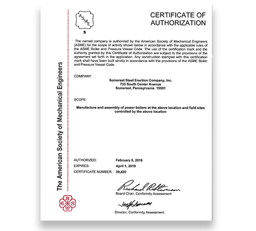 ASME S Certified